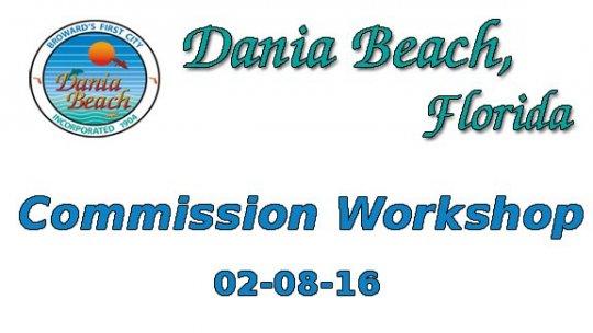 02 08 2016 Commission Workshop