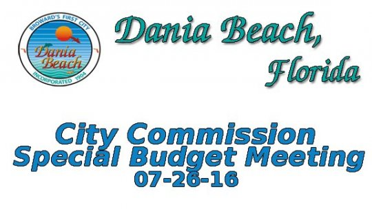 07 26 2016 Commission Special Budget Meeting