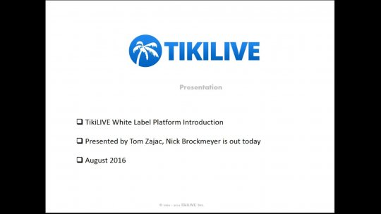 Webinar August 9th 2016 Introducing our Social Broadcasters Tab in the Guide
