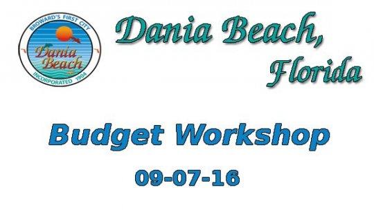 09 07 2016 Budget Workshop