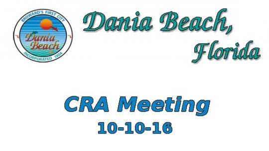 10 10 2016 CRA Meeting