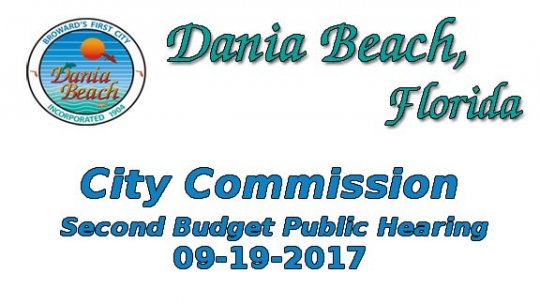 09 19 2017 Sectond Budget Public Hearing
